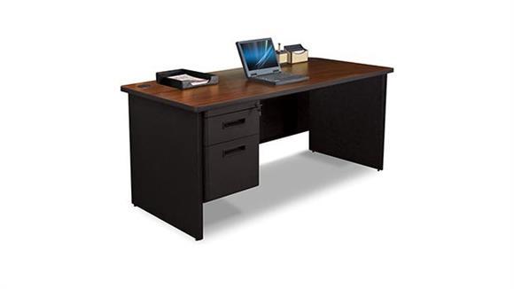 "Steel & Metal Desks Marvel 66"" x 30"" Single Pedestal Steel Desk"