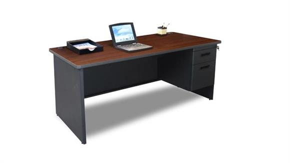 "Steel & Metal Desks Marvel 66"" x 30"" Single Pedestal Steel Desk"