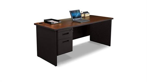 "Steel & Metal Desks Marvel 72"" x 30"" Single Pedestal Steel Desk"