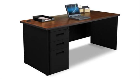"Computer Desks Marvel Single Full Pedestal Desk, 72""W x 30""D"