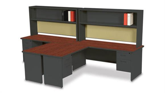 Workstations & Cubicles Marvel 2 Person Workstation with Hutches