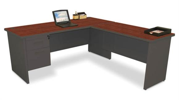 "L Shaped Desks Marvel L Shaped Desk with Return, 72""W x 78""D"
