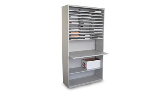 Mail Sorters Marvel Mail Sorter with Adjustable Worksurface