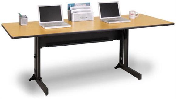 "Folding Tables Marvel 48"" x 30"" Rectangular Folding Training Table"