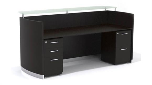 Reception Desks Mayline Double Pedestal Reception Desk