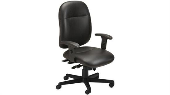 Office Chairs Mayline 24 Hour High Performance Leather Chair
