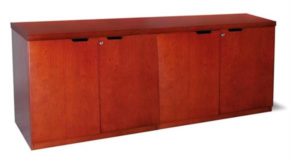 "Office Credenzas Mayline 72"" Hinged Door Credenza"