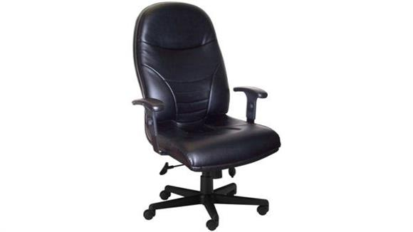 Office Chairs Mayline Executive High Back Leather Chair