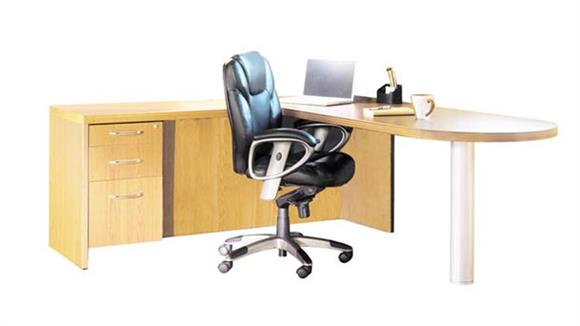 "L Shaped Desks Mayline 72"" x 84"" L Shaped Peninsula Desk"