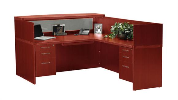 Reception Desks Mayline L Shaped Reception Desk