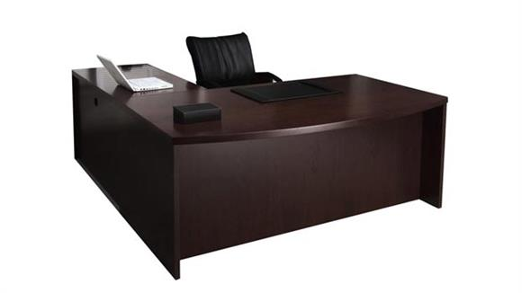 L Shaped Desks Mayline Double Pedestal Bow Front L Shaped Desk
