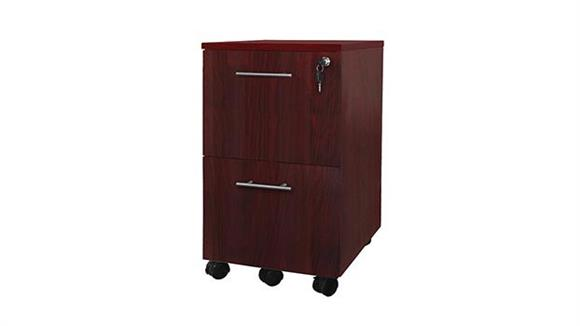 Mobile File Cabinets Mayline 2 Drawer Mobile Pedestal