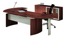 "Executive Desks Mayline 63"" Desk with Return and Low Wall Cabinet"
