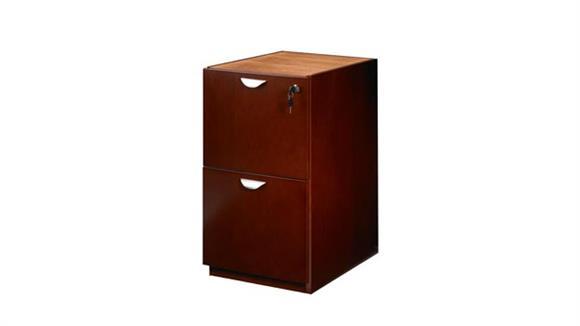 File Cabinets Vertical Mayline Wood Veneer 2 Drawer Pedestal for Credenza or Return