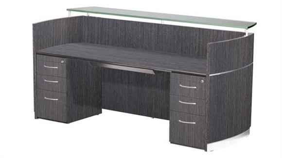 Reception Desks Mayline Double Pedestal Napoli Reception Station