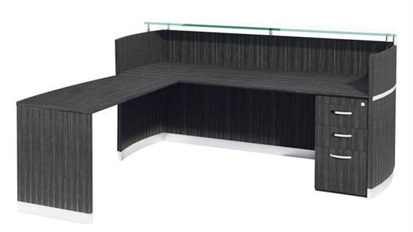 Reception Desks Mayline Reception Station with One Pedestal