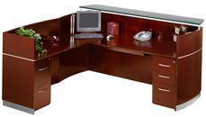 Reception Desks Mayline Double Pedestal L Shaped Napoli Reception Station