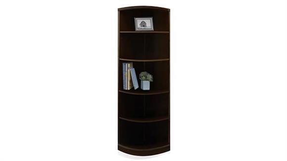 Bookcases Mayline 5 Shelf Quarter Round Bookcase