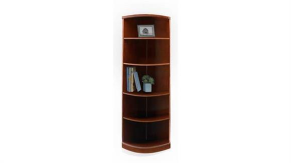Bookcases Mayline 5 Shelf Quarter Round Bookcase