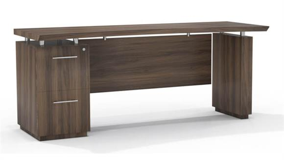 "Office Credenzas Mayline 72"" Single Pedestal Credenza"