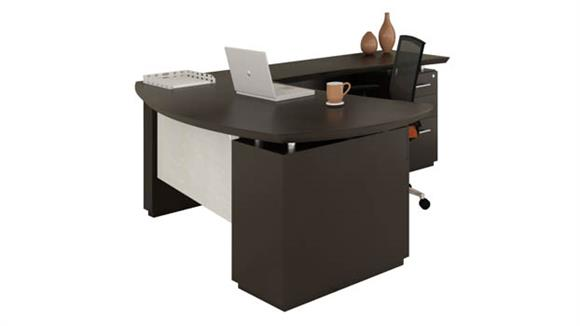 "L Shaped Desks Mayline 66"" L Shaped Desk"