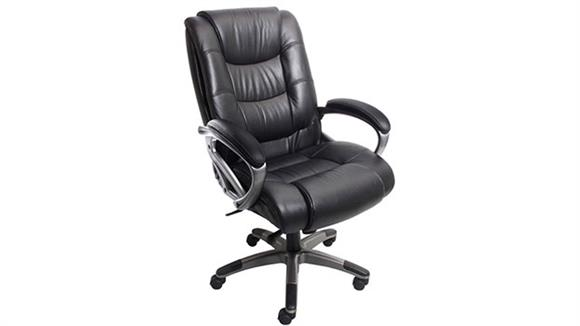 Office Chairs Mayline High Back Leather Chair