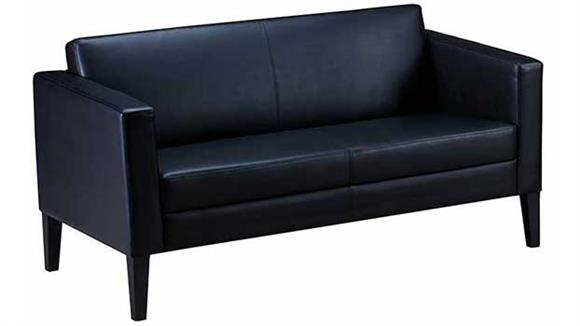 Loveseats Mayline Prestige Top Grain Leather Settee