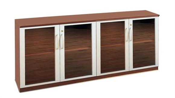 Storage Cabinets Mayline Low Wall Cabinet with Glass Doors