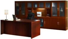 """Executive Desks Mayline 72"""" Conference Front Desk with Additional Storage"""