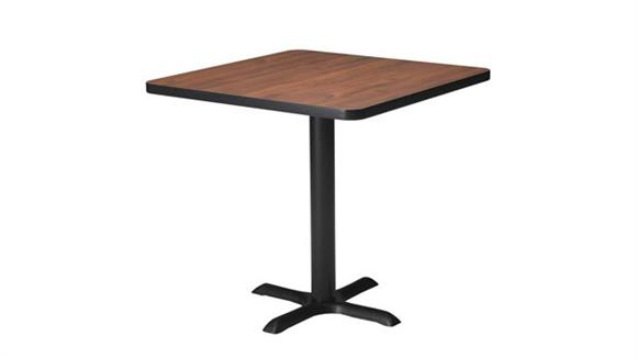 "Conference Tables Mayline 30"" Square Bar Height Hospitality Table"