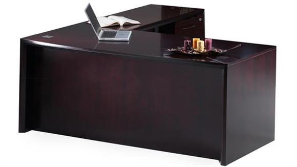 "L Shaped Desks Mayline 72"" L Shaped Desk"