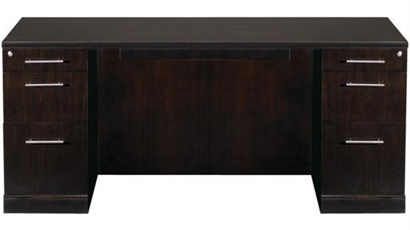 "Executive Desks Mayline 72"" Double Pedestal Desk"