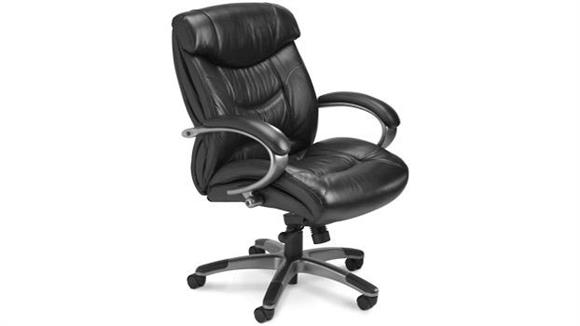 Office Chairs Mayline Mid Back Leather Chair