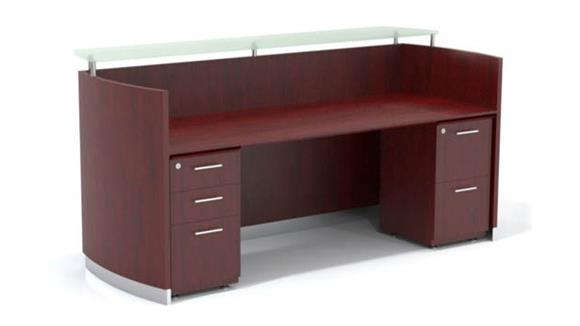 Reception Desks Mayline Office Furniture Double Pedestal Reception Desk