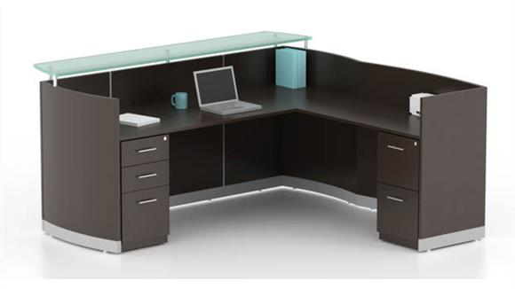 Reception Desks Mayline Office Furniture L Shaped Reception Desk