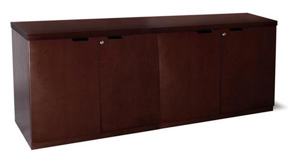 "Office Credenzas Mayline Office Furniture 72"" Hinged Door Credenza"