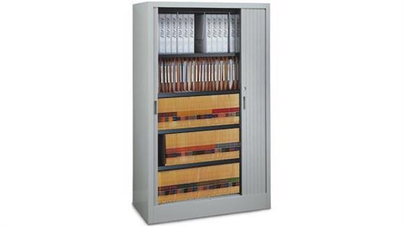 "Binder Storage & Binder Carousels Mayline Office Furniture 48""W Five Tier File Harbor Cabinet"