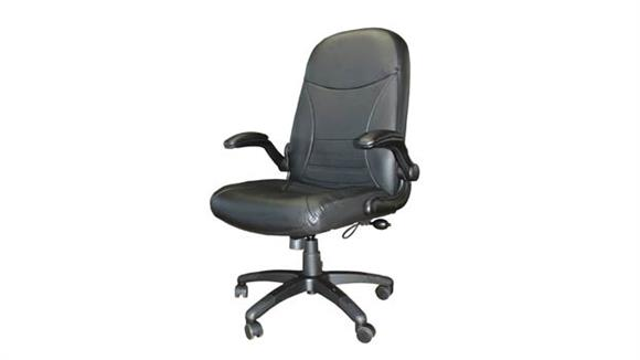 Big & Tall Mayline Office Furniture Big and Tall Leather Pivot Arm Chair