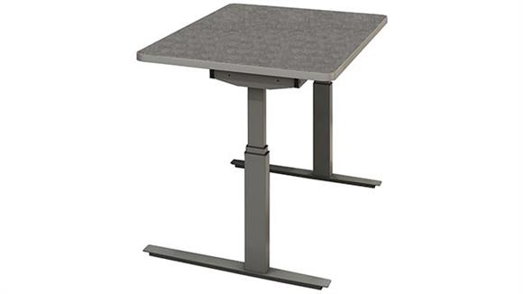 """Adjustable Height Desks & Tables Mayline Office Furniture 48"""" x 24"""" Height Adjustable Table"""