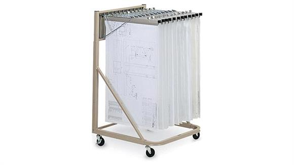 "Flat File Cabinets Mayline Office Furniture 18"" Vertical File Rolling Stand"