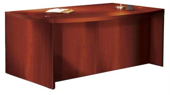 "Executive Desks Mayline Office Furniture 72"" Bow Front Desk"