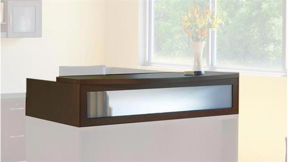 "Reception Desks Mayline Office Furniture 72"" Reception Transaction Counter"