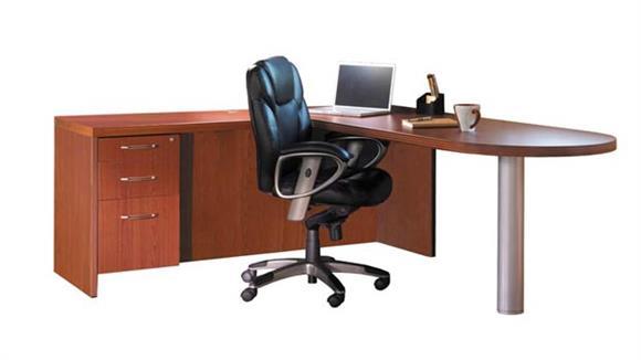 "L Shaped Desks Mayline Office Furniture 72"" x 84"" L Shaped Peninsula Desk"