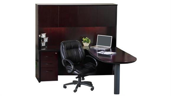 L Shaped Desks Mayline Office Furniture Peninsula L Shaped Desk