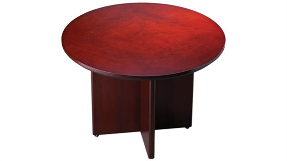 "Conference Tables Mayline Office Furniture Wood 42"" Round Conference Table"