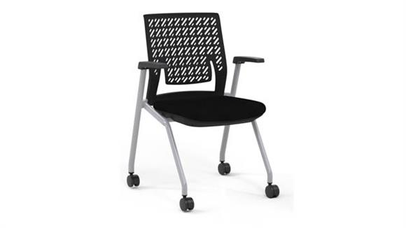 Stacking Chairs Mayline Office Furniture Flex Back Training Chair with Arms