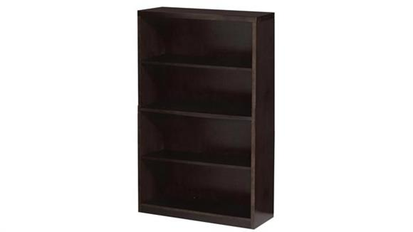 "Bookcases Mayline Office Furniture 68"" Wood Veneer Bookcase"