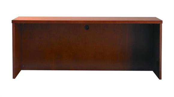 "Office Credenzas Mayline Office Furniture 72"" Wood Veneer Credenza"