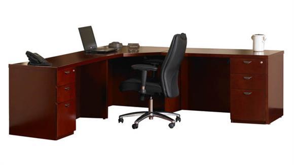 Corner Desks Mayline Office Furniture Double Pedestal Corner Desk