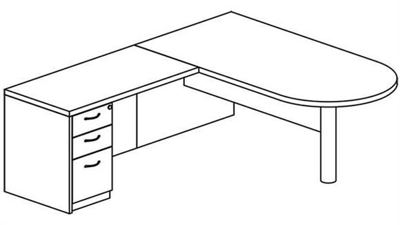 L Shaped Desks Mayline Office Furniture L Shaped Peninsula Desk